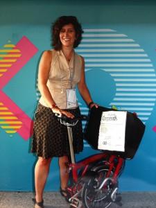 valeurs: A vélo pliable pour la rentrée des entreprises organisée par la FER