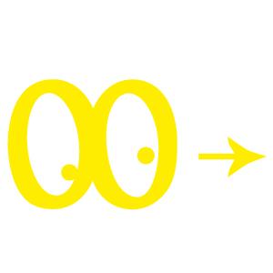 Logo-jaune anniversaire pour enfants