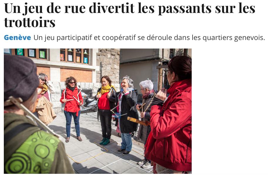 "Article Tribune de Genève ""Tu m'as vu?"""
