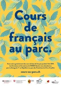 Cours français au parc