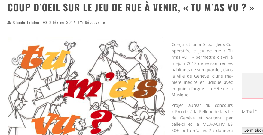 "Article daily-passions ""Tu m'as vu?"""