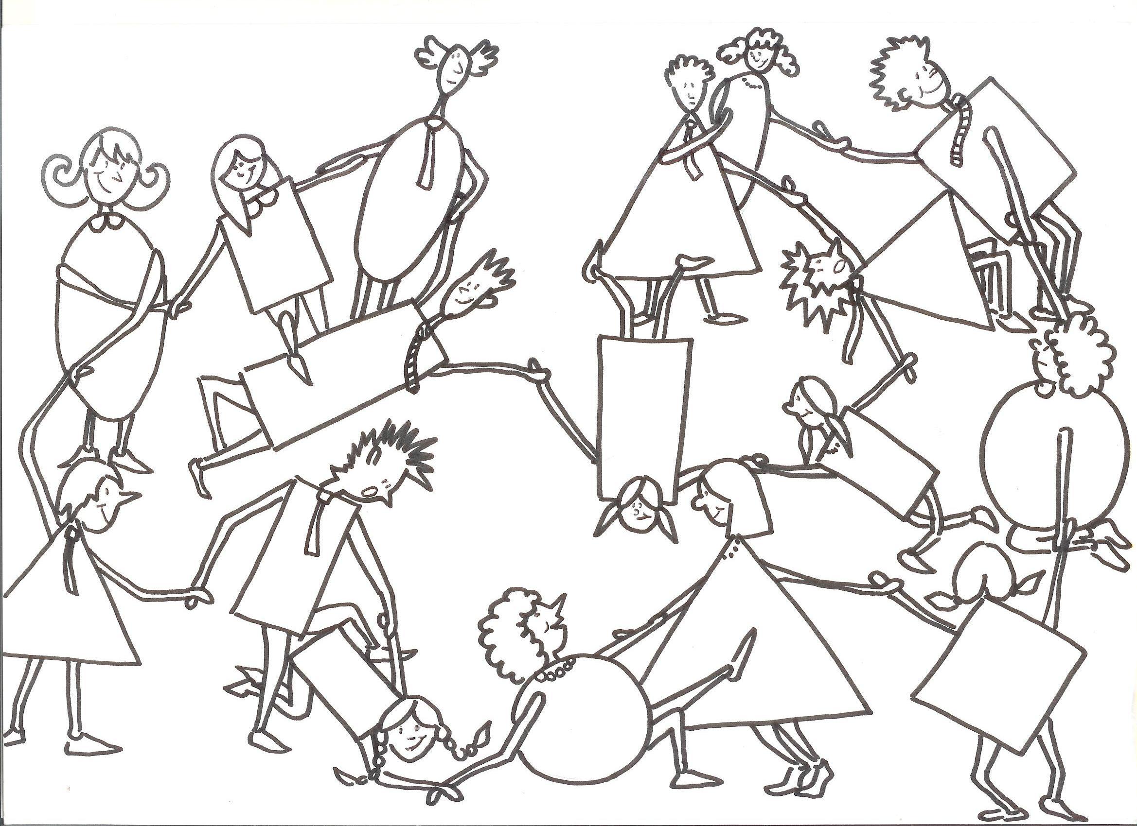 Illustration du jeu du nœud @Luana Reiser