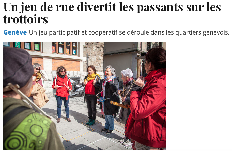 "Article Tribune de Genève ""Tu m'as vu?"""
