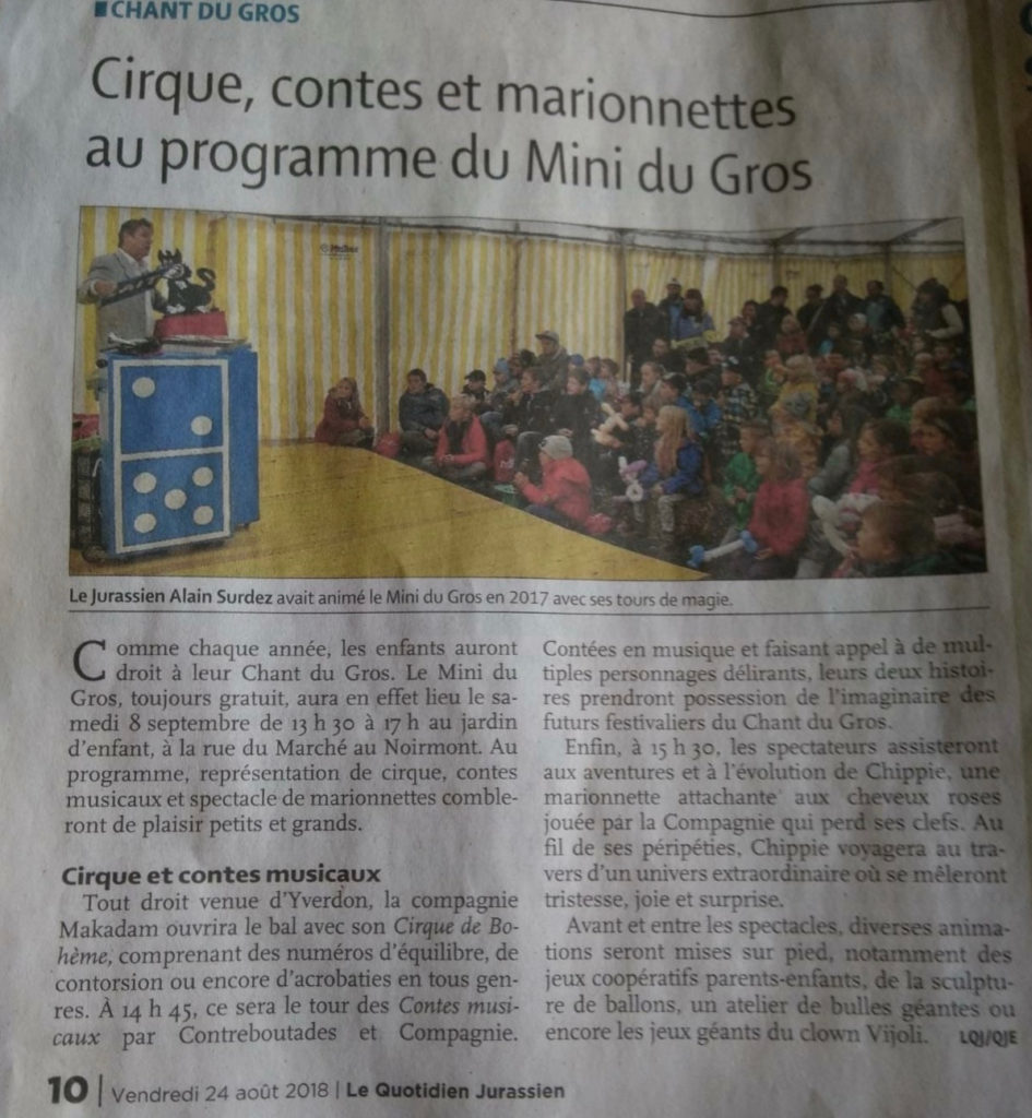 Article Le Quotidien Jurassien
