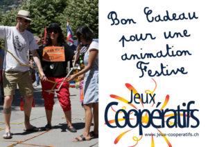Bon cadeau animation festive Jeux Coopératifs
