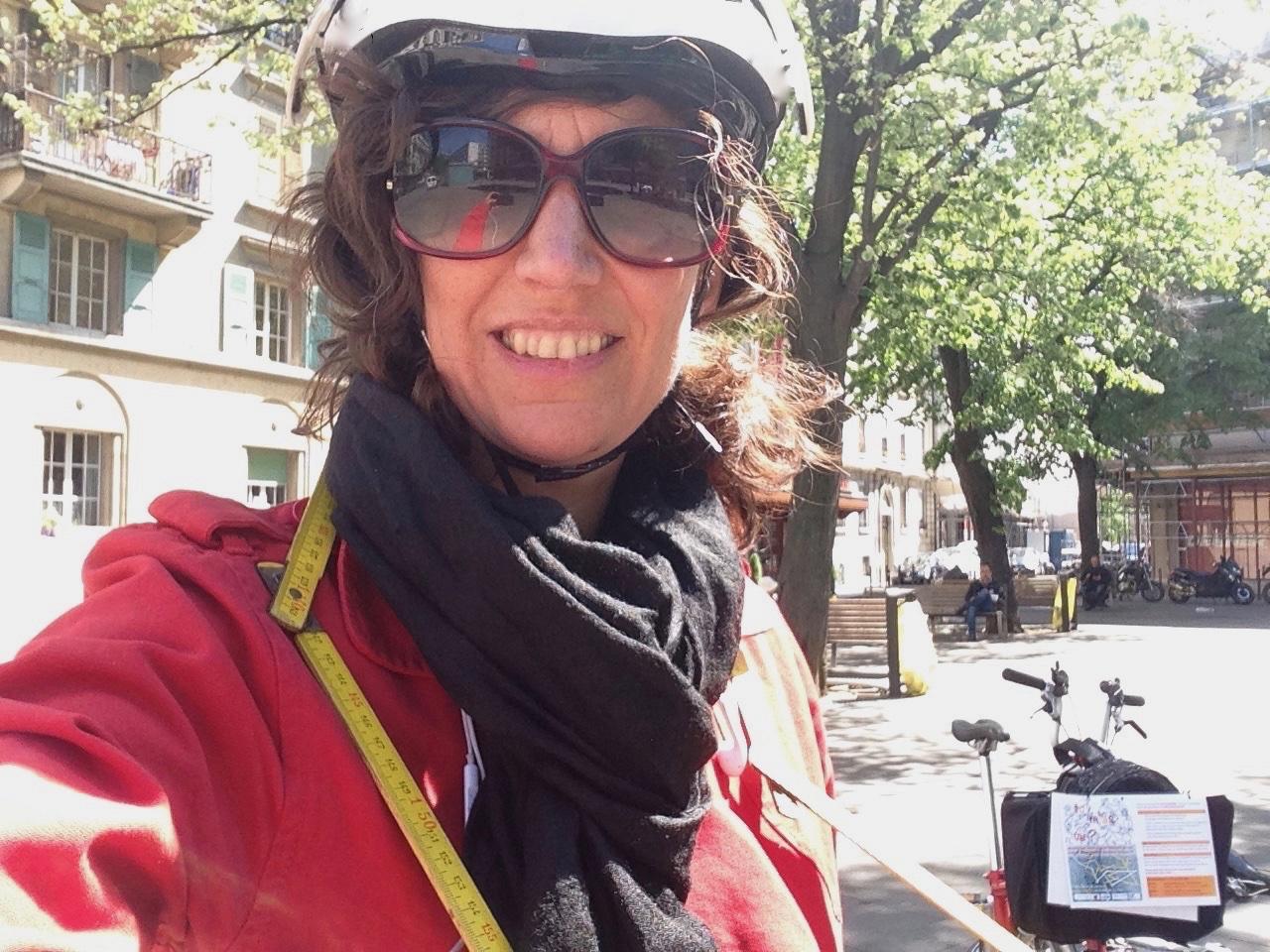 Repérage défi coopératif  «Tu m'as vu?» à vélo Carole-lyne Klay à l'initiative du projetpilote