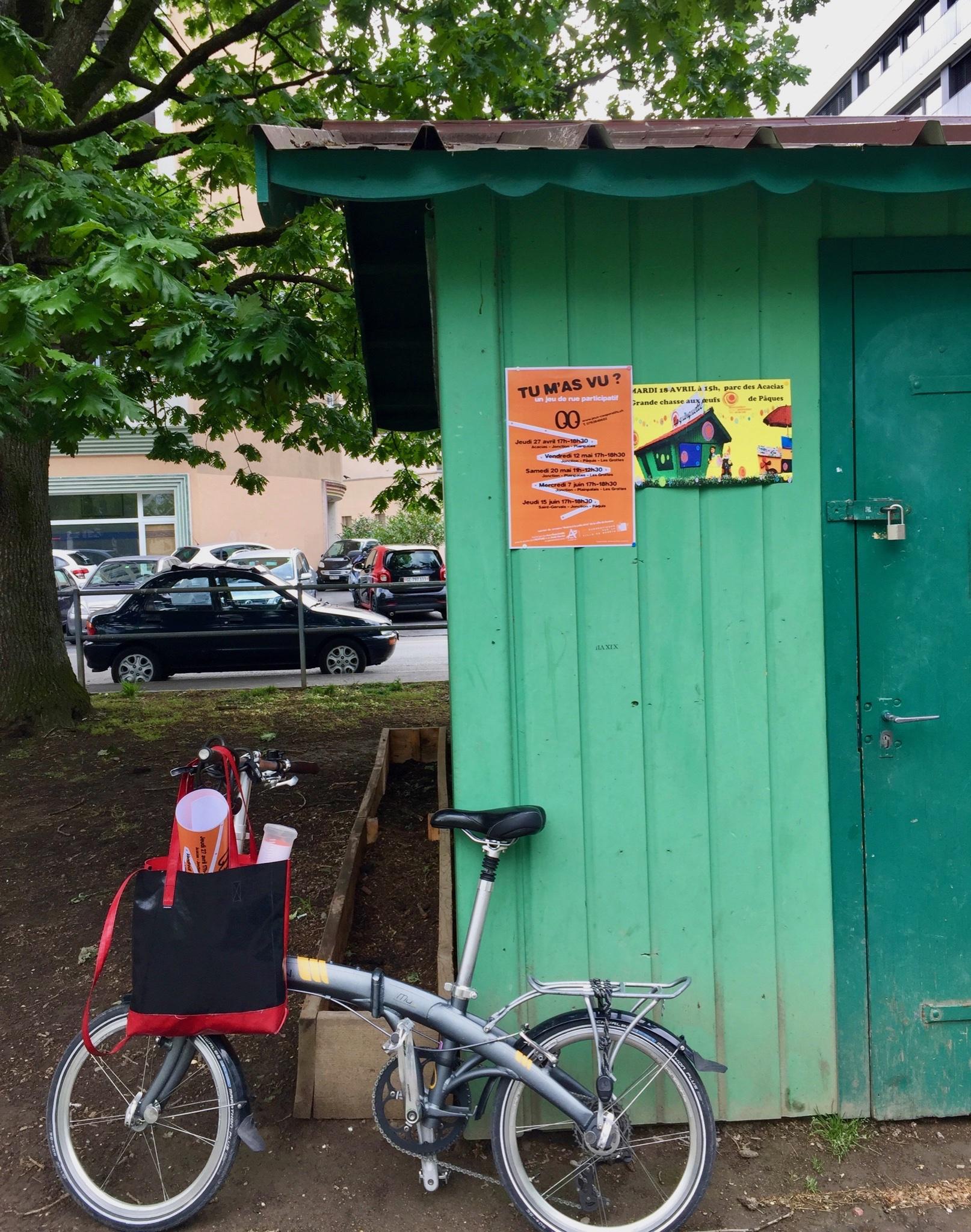 Repérage défi coopératif  «Tu m'as vu?» à vélo