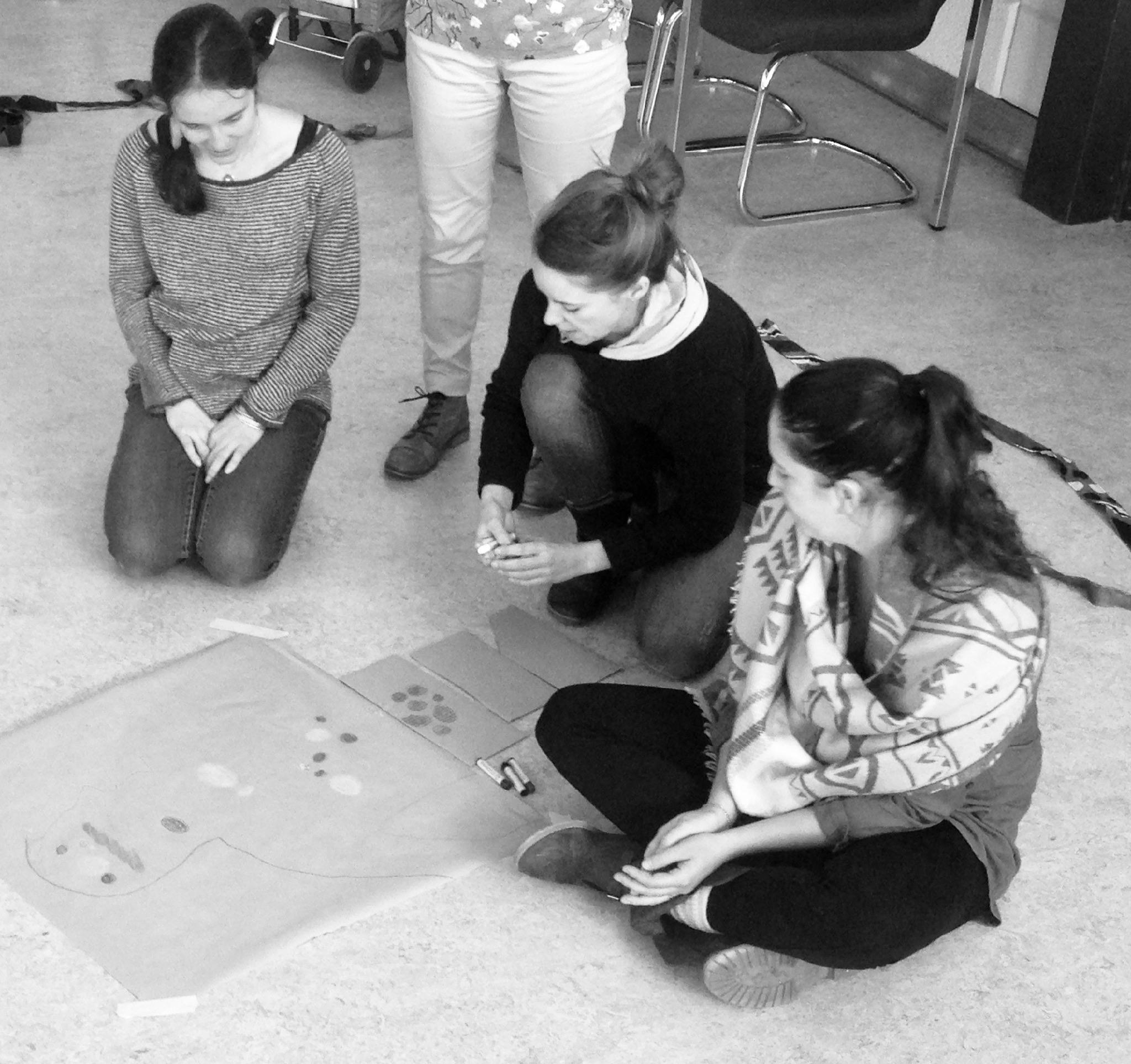 Œuvre collaborative Jeux Coopératifs lors d'une formation